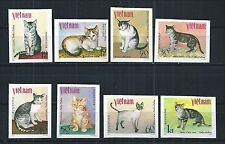 VIETNAM 1979 MiNr: 1063 U - 1070 U ** IMPERF CATS ANIMALS GATOS TIERE