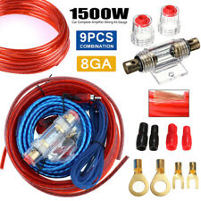 Car Audio 8 Gauge Cable Kit Amp Amplifier Install Rca Subwoofer Sub Wiring 1500W