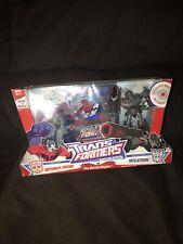Transformers Animated Deluxe Class Cyberton Optimus Prime vs Megatron New 2007