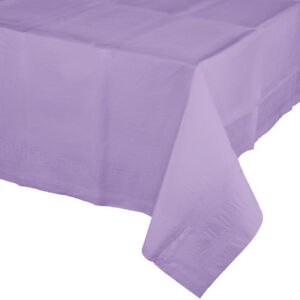 """Lavender 2/Ply Paper-Poly Banquet Tablecloth 54"""" x 108"""" Tableware Supplies"""