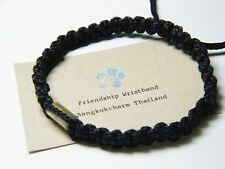 Authentic Thai Blessed Buddhist Wristband Fair Trade Wristwear Black Takrut