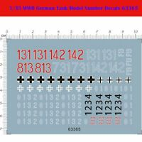7*10 Decal Sticker for 1/35 Scale WWII German Tank Model Kit Number Decals 63365
