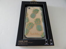 Nicole Miller Clear Case For iPhone 7 iPhone 6 iPhone 6S Pineapple/Green/Clear