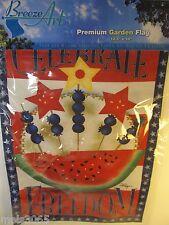 "Breeze Art Premium Garden Flag Celebrate Freedom~Red/White/Blue 12.5"" x 18"" NIP"