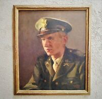 Portrait Painting Man Gentleman Male U. S. Army Soldier Officer Oil on Canvas