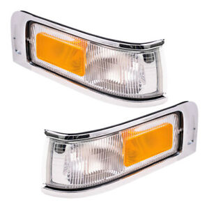 Pair Set Signal Side Marker Corner Lights Lamps for 1995-1997 Lincoln Town Car