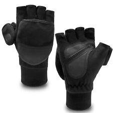 Men Women Winter Warm Fliptop Mittens Gloves Fingerless Knit Wool Photography