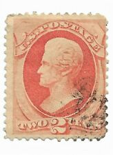 Scott 135 - 2 Cents Jackson - Used - Grilled Issue - SCV - $75.00 cdd