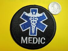 MEDIC PATCH STAR OF LIFE FIRST RESPONDER BLACK TACTICAL PATCH CIRCLE LOOK!*