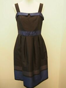 Basque Blue and Black Dress Size 12