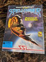"CIB AD&D SPELLJAMMER Pirates of Realmspace TSR SSI Big Box IBM 5.25"" disks OOP"