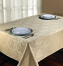 Laura Rose Jacquard Oblong Tablecloth 54in. x 72in. gold