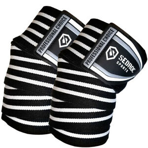 Sedroc Pro Weight Lifting Knee Wraps Powerlifting Squats Support Straps