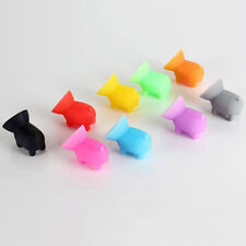 5PCS Mini Phones Sucker Silicone Pig Shape Holder Cell Phone Stand Funny