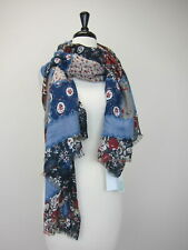 "Stitch Fix Women's Lulla Lzmine Floral Oblong Scarf 35""x72"" Blue  NWT"