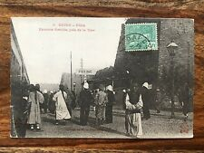 CHINA OLD POSTCARD CHINESE RAILWAY STATION TRAIN PEOPLE PEKING TO FRANCE !!