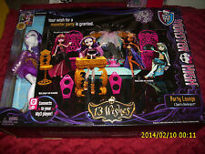 MONSTER HIGH PARTY LOUNGE & SPECTRA VONDERGEIST CONNECTS TO MP3 PLAYER 13 WISHES