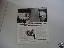 advertising Pubblicità 1977 MOTO GUZZI V1000 V 1000