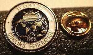 World Curling Federation Pin 1966