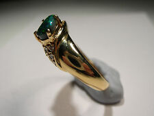 Lightening Ridge Opal with 7 small diamonds on 18ct Gold Ring  (Lot 2239)