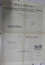 DIFESA ADRIATICA 21 Novembre 1953 Jugoslavia sloveni Basilica di Massenzio Udine