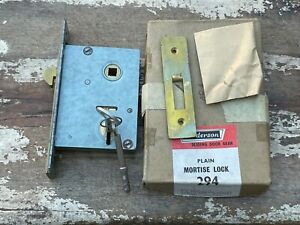 Vintage Sandeson 3 Lever Mortice Lock 294 New Old Stock Boxed Door With Keys