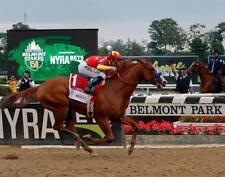11x14  JUSTIFY Triple Crown Belmont Stakes Photo print for Home Pub Sports Bar