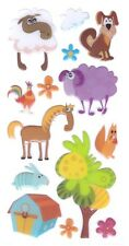 3D Epoxy Gel Stickers Cute Farm Animals for Scrapbooking sticker Album school