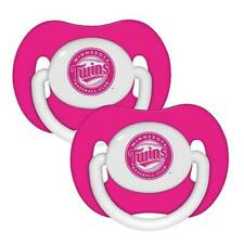 Minnesota Twins Pink Baby Pacifiers 2 Pack [NEW] MLB Infant Newborn Child Binky