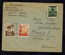 1941 Kielce Poland Germany GG cover to Prague Bohemia