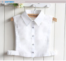 Unisex Detachable Dickey Blouse Shirt Cotton Fake False Choker Collar #EAF223