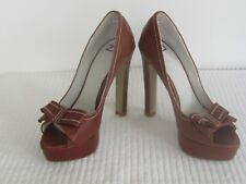 Gorgeous ZU womens platform brown genuine leather shoes size 38