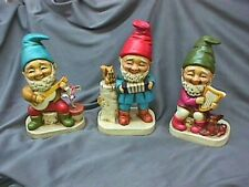 Set Of Three Gnomes Or Elves