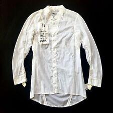 NWT $565 Boris Bidjan Saberi 11 Men's Off White Snap Button Down Shirt AUTHENTIC