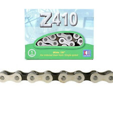 "KMC Z410 Chain Silver Black 1/8"" Track Fixed Gear Single Speed BMX 1-Speed Bike"