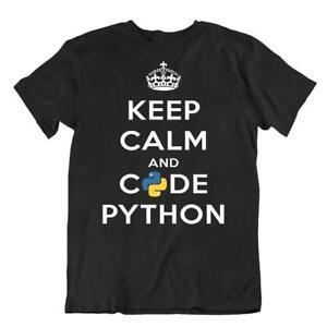 Keep Kalm And Code Python Tee Funny Computer Joke T-Shirt