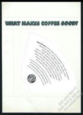 2005 Starbucks Coffee actual filter with ingredients list vintage print ad