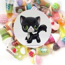 Authentic Littlest Pet Shop Tuxedo Longhair Cat 55 + *Suprise Food Items*
