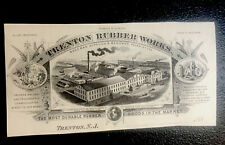 1889 Trenton Rubber Works Letterhead Advertising Sample - Trenton - New Jersey