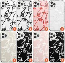 Abstract Continuous Line Faces Slim Phone Case for iPhone   Unique Drawing Portr