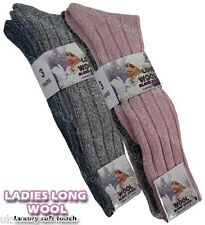 6 Pairs Ladies Long Thick Wool Thermal Boot Socks Walking Hiking Ski Winter Warm
