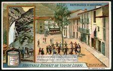 Andorra Moles Waterfall And Sardana Dance c1915 Trade Card