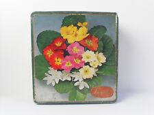 Scatola in latta tin box vintage Biscotti Lazzaroni scatola decoro floreale