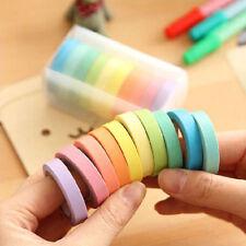 DIY 10 x Washi Tape Set Masking Tape Scrapbook Decorative Paper Adhesive Sticker