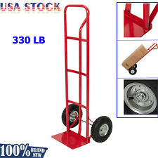 330lbs Hand Trolley Portable Cart Luggage Load Truck Moving Dolly with 2 Wheels