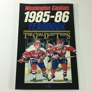 VTG NHL Official Yearbook 1985-1986 - Washington Capitals / The Goal Dust Twins