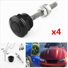 Universal Car Quick Release Latch 22mm Push Button Bonnet Hood Pin Lock Clip Kit