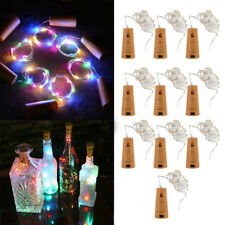 20 LED Cork Shape String Fairy Night Light Wine Bottle Lamp for Party w/Battery