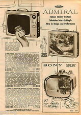 1961 ADVERTISEMENT Television All Transistor Sony Portable Modern Space Age