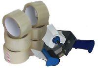 1x Abroller 12 x Rollen Klebeband Packband Paketband Band 66M Lang 48MM Breit